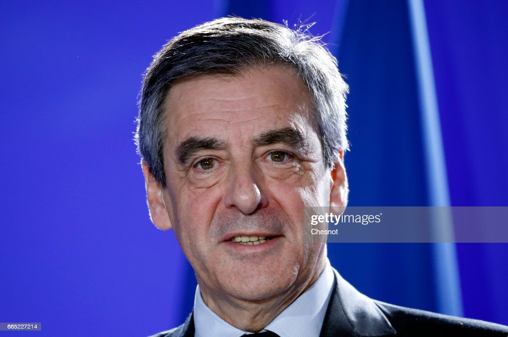 French Presidential Candidate Francois Fillon Gives A Press Conference