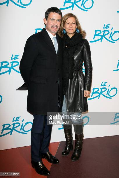 Former French Prime Minister Manuel Valls and wife Anne Gravoin attend the 'Le Brio' Premiere at Cinema Gaumont Capucine on November 21 2017 in Paris...