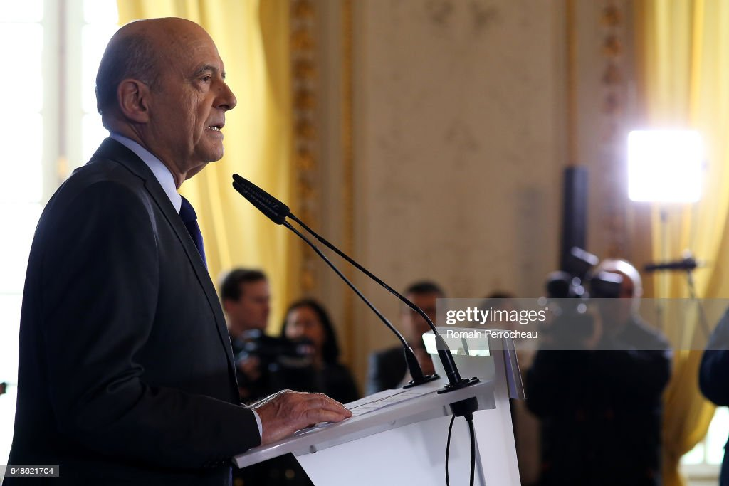 Bordeaux Mayor Alain Juppe Delivers A Speech On France Presidential Elections
