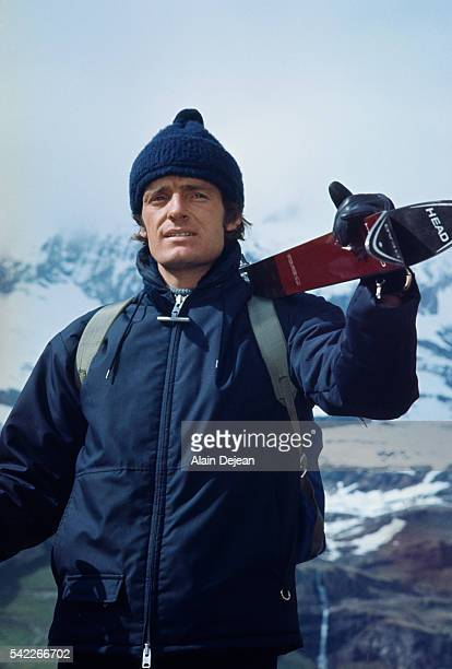 Former French ski champion JeanClaude Killy on the set of film Snow Job