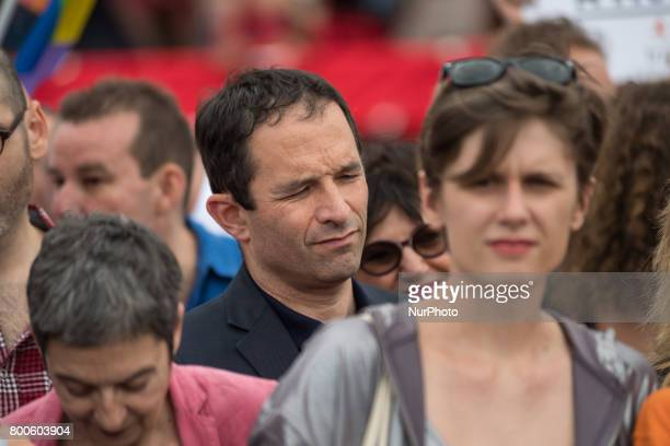Former French Socialist Benoit Hamon march during Gay Pride 2015 in Paris on June 24th 2017 2017 marks the 40th anniversary of the first Gay Pride...