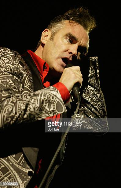 Former frontman of The Smiths Morrissey performs on stage as part of the Meltdown 2004 arts and music festival which he has been curating at the...