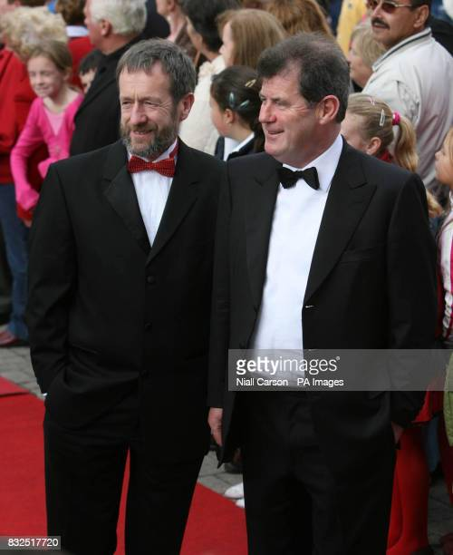 LR Former Gaelic Athletic Association president Sean Kelly and businessman JP McManus arrive at St Patrick's church in Fermoy Co Cork ahead of the...
