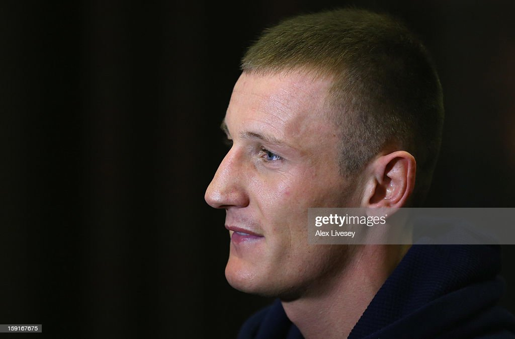 Former GB Olympic boxer Tom Stalker is unveiled as the latest boxer to be signed up to the Matchroom Sport stable at the Hilton Hotel on January 9, 2013 in Liverpool, England.