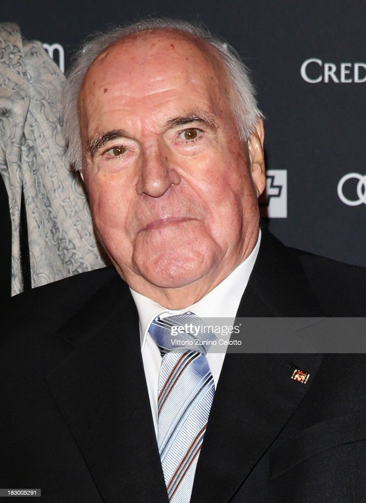 Former German Chancellor Helmut Kohl attends an evening with Arthur Cohn during the Zurich Film Festival 2013 on October 3, 2013 in Zurich, Switzerland.