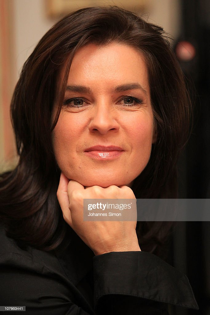 Former German figure skater and chairwoman Munich 2018 Katarina Witt looks on during the presentation of - former-german-figure-skater-and-chairwoman-munich-2018-katarina-witt-picture-id107953441