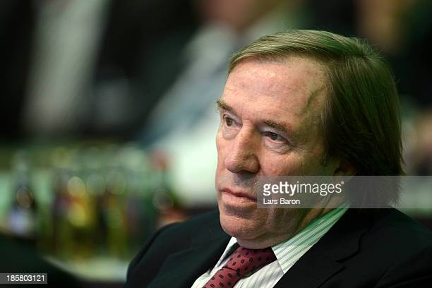 Former German national player Guenter Netzer looks on during the DFB Bundestag Day 2 at NCC Nuremberg on October 25 2013 in Nuremberg Germany