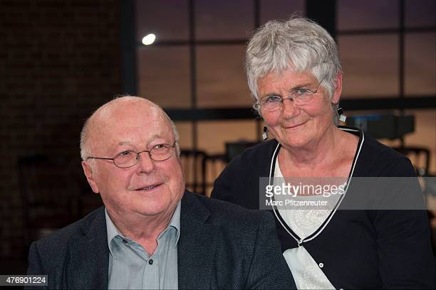 Former german politician Norbert Bluem and his wife Marita Bluem attend the 'Koelner Treff' TV Show at the WDR Studio on June 12 2015 in Cologne...