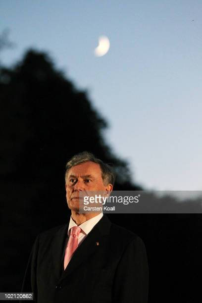 Former German President Horst Koehler attends his farewell ceremony at Bellevue Palace on June 15 2010 in Berlin Germany German President Horst...