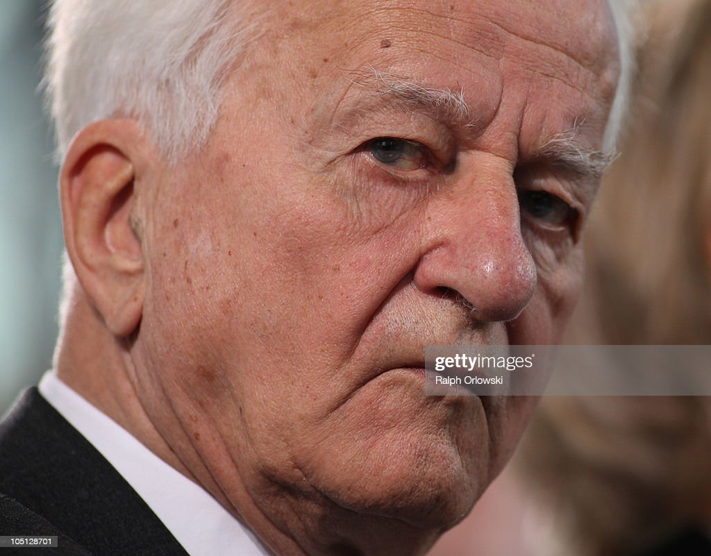 Former German President Richard von Weizsaecker attends the donation ceremony for the peace prize of the German Publishers and Booksellers Association for Israli author David Grossmann in the Church of St. Paul on October 10, 2010 in Frankfurt am Main, Germany.