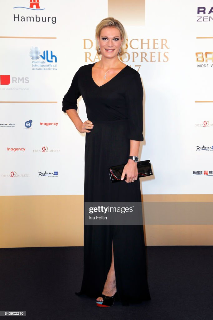 Former german skier Maria Hoefl-Riesch attends the 'Deutscher Radiopreis' (German Radio Award) at Elbphilharmonie on September 7, 2017 in Hamburg, Germany.