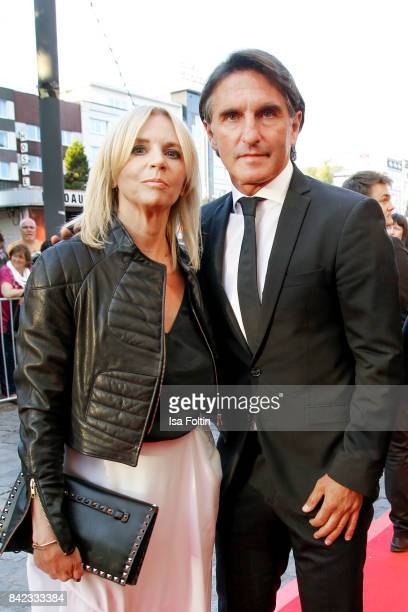 Former german soccer player Bruno Labbadia and his wife Sylvia Labbadia attend the 'Nacht der Legenden' at Schmidts Tivoli on September 3 2017 in...