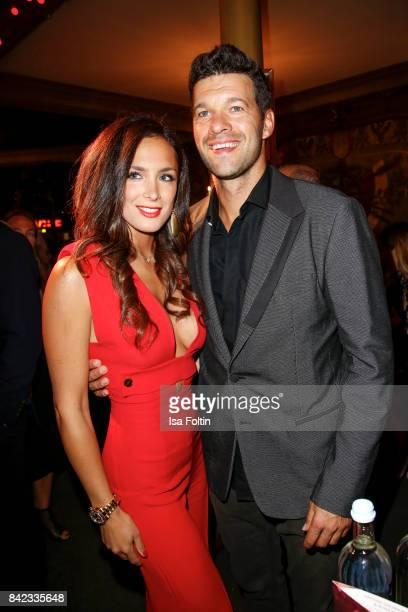 Former german soccer player Michael Ballack and his girlfriend Natacha Tannous attend the 'Nacht der Legenden' at Schmidts Tivoli on September 3 2017...