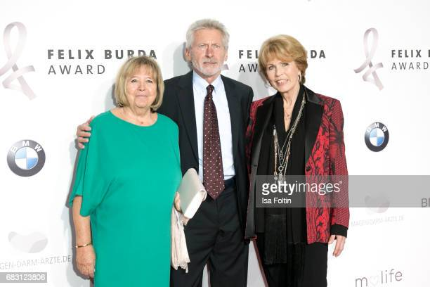 Former german soccer player Paul Breitner with his wife Hildegard Breitner and Christa Maar attend the Felix Burda Award 2017 at Hotel Adlon on May...