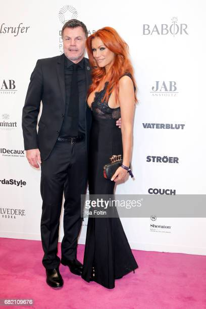 Former German soccer player Thomas Helmer and his wife German actress Yasmina Filali attend the Duftstars at Kraftwerk Mitte on May 11 2017 in Berlin...
