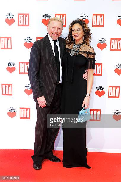 Former german tennis player Boris Becker and his wife Lilly Becker attend the Ein Herz Fuer Kinder gala on December 3 2016 in Berlin Germany