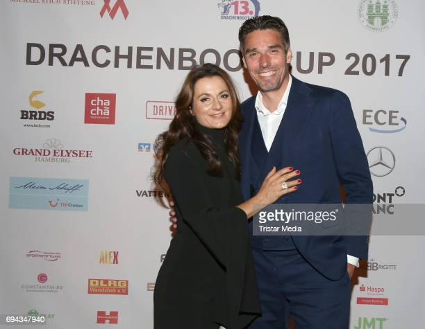 Former German tennis player Michael Stich and his wife Alexandra Stich attend the Michael Stich Foundation Presents Dragon Boat Cup Aftershowparty on...