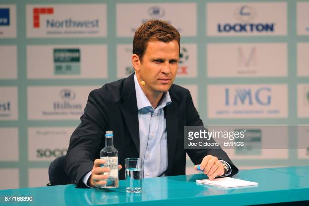 Former Germany striker Oliver Bierhoff talks during Soccerex European Forum 2011