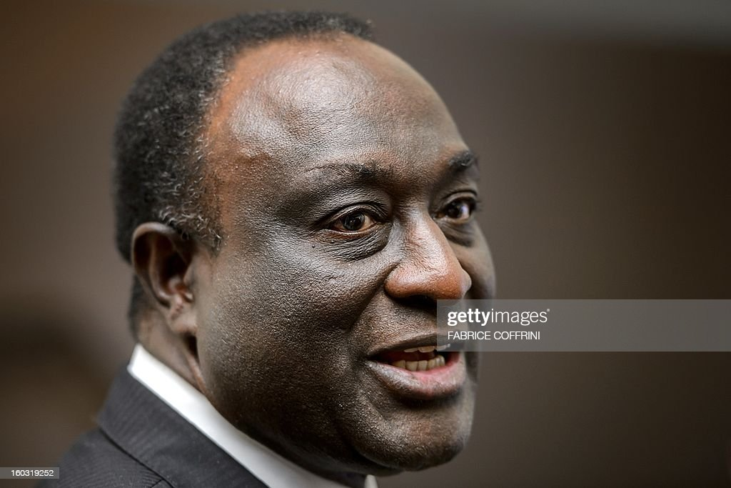 Former Ghanian trade minister Alan Kyerematen is pictured after a press conference following a hearing on January 29, 2013 at the World Trade Organization (WTO) headquarters in Geneva. WTO begins interviewing nine candidates to replace Pascal Lamy as director general. The WTO's 158 member countries is to make its decision known by May 31. AFP PHOTO / FABRICE COFFRINI