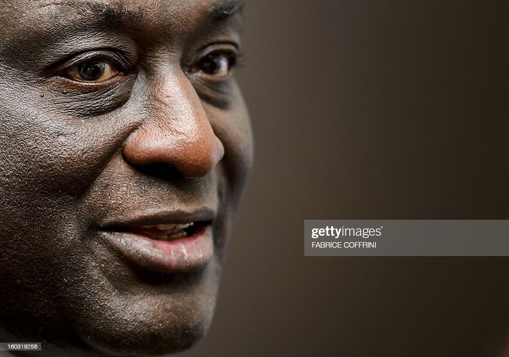 Former Ghanian trade minister Alan Kyerematen is pictured after a press conference following a hearing on January 29, 2013 at the World Trade Organization (WTO) headquarters in Geneva. WTO begins interviewing nine candidates to replace Pascal Lamy as director general. The WTO's 158 member countries is to make its decision known by May 31.
