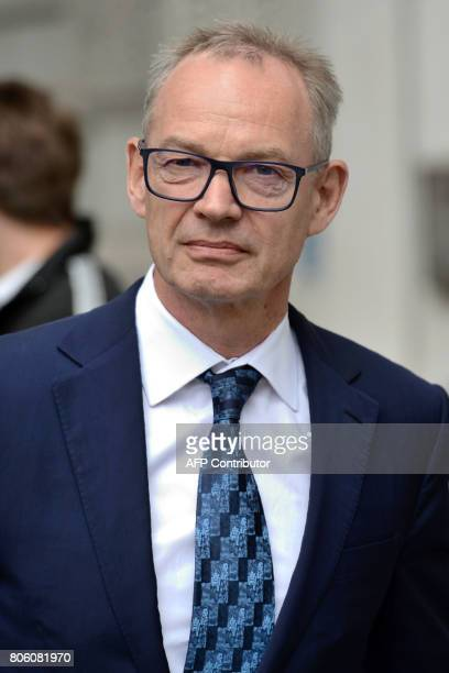 Former global cohead of Barclays Finance Richard Boath arrives at Westminster Magistrates Court in central London on July 3 2017 Barclays bank and...