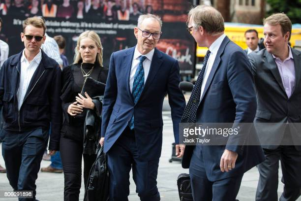 Former Global coHead of Finance at Barclays Richard Boath arrives at Westminster Magistrates Court on July 3 2017 in London England Mr Boath today...