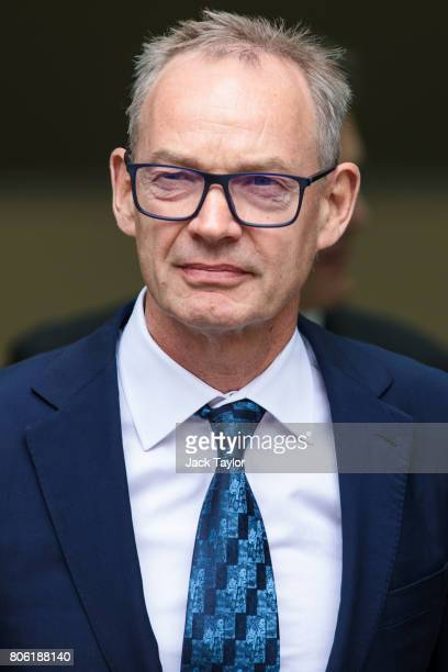 Former Global coHead of Finance at Barclays Richard Boath leaves Westminster Magistrates Court on July 3 2017 in London England Mr Boath today...