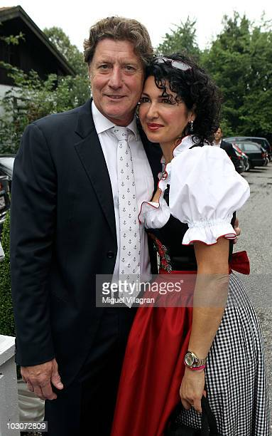 Former goalkeeper Toni Schumacher and his wife Jasmin attend the gala dinner of the Kaisercup Golf tournament on July 24 2010 in Bad Griesbach Germany