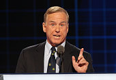 Former Gov Howard Dean delivers remarks on the second day of the 2016 Democratic National Convention at Wells Fargo Center on July 26 2016 in...