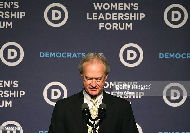 Former Gov Lincoln Chafee announces his decision to drop out of the race for the 2016 Democratic Presidential nomination at the Democratic National...