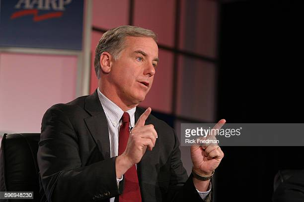 Former Governor Howard Dean speaks at the AARP Democratic Presidential Candidate Forum at the Wayfarer Inn in Bedford New Hampshire