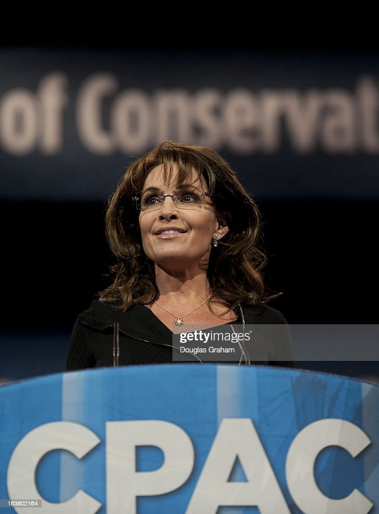 Former Governor of Alaska Sarah Palin during the 2013 Conservative Political Action Conference at the Gaylord National Resort & Conference Center at National Harbor, Md., on Saturday, March 16, 2013.