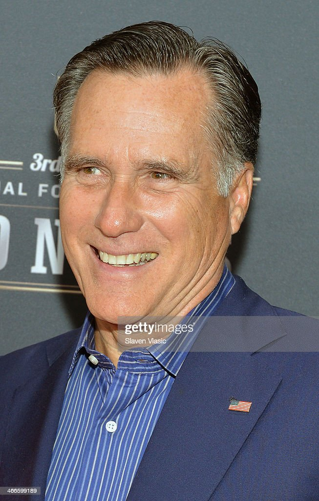 Former Governor of Massachusetts <a gi-track='captionPersonalityLinkClicked' href=/galleries/search?phrase=Mitt+Romney&family=editorial&specificpeople=207106 ng-click='$event.stopPropagation()'>Mitt Romney</a> attends the 3rd Annual NFL Honors at Radio City Music Hall on February 1, 2014 in New York City.