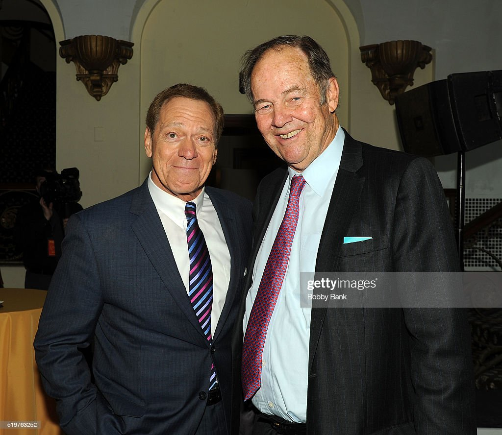 Former Governor of New Jersey Thomas Kean and Joe Piscopo attend the 2016 New Jersey Hall Of Fame Induction Ceremony at Asbury Park Convention Center on April 7, 2016 in Asbury Park, New Jersey.