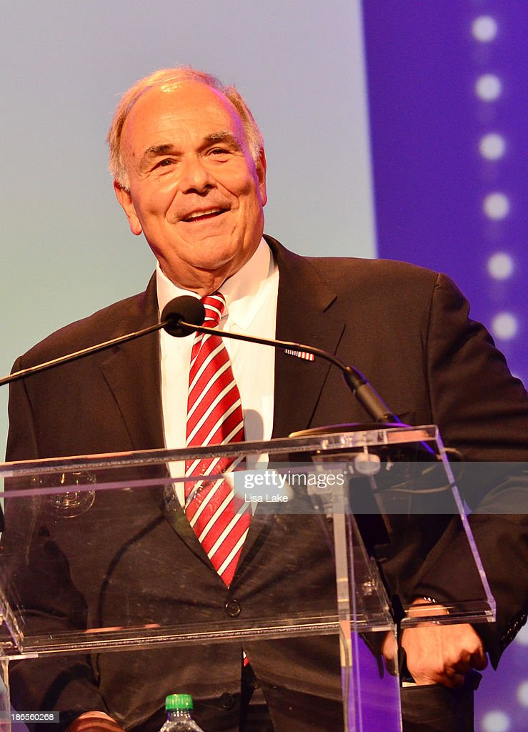 Former Governor of Pennsylvania <a gi-track='captionPersonalityLinkClicked' href=/galleries/search?phrase=Ed+Rendell&family=editorial&specificpeople=2445310 ng-click='$event.stopPropagation()'>Ed Rendell</a> speaks onstage at the Pennsylvania Conference For Women 2013 at Philadelphia Convention Center on November 1, 2013 in Philadelphia, Pennsylvania.