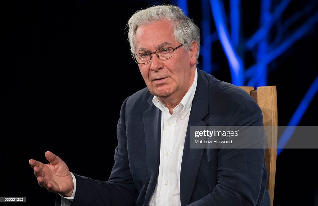 Former governor of the Bank of England Mervyn King during the 2016 Hay Festival on May 29, 2016 in Hay-on-Wye, Wales. The Hay Festival is an annual festival of literature and arts now in its 29th year.