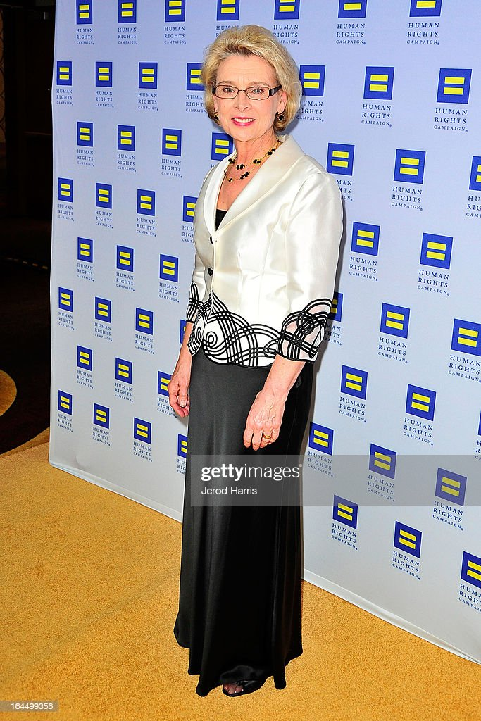 Former Governor of Washington Christine Gregoire arrives at Human Rights Campaign dinner gala at the JW Marriott at L.A. LIVE on March 23, 2013 in Los Angeles, California.