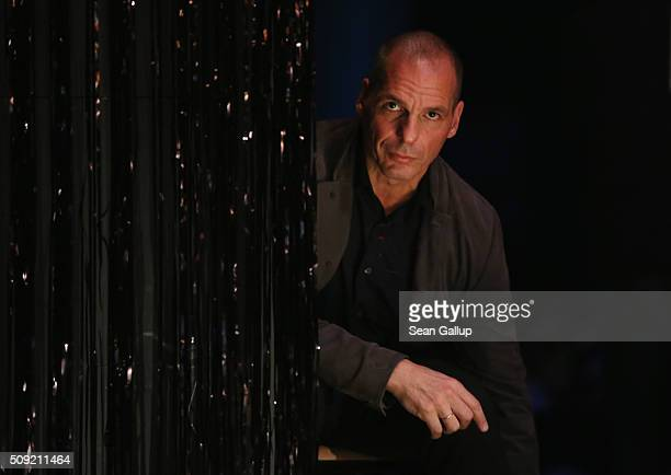Former Greek Finance Minister Yanis Varoufakis attends the official launch of the Democracy in Europe Movement 2025 at the Volksbuehne theater on...