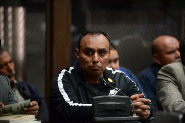 ... the 1998 slaying of Bishop Juan Jose Gerardi is seen during a court