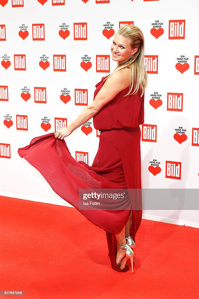 Former gymnast Magdalena Brzeska attends the Ein Herz Fuer Kinder gala on December 3, 2016 in Berlin, Germany.