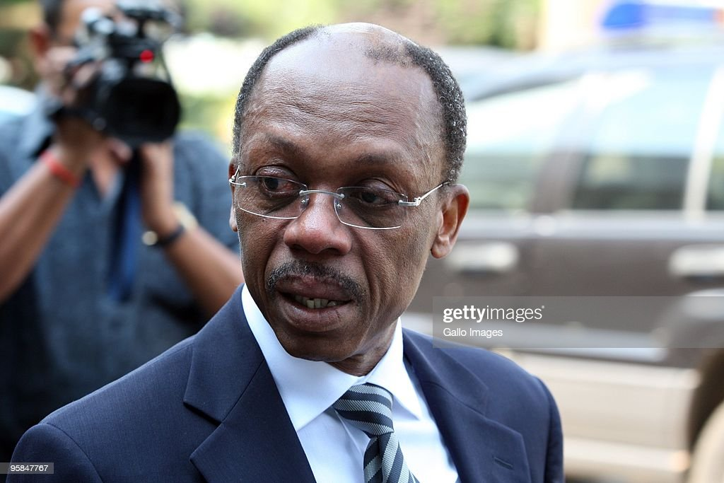 Former Haitian president Jean Bertrand Aristide during a press conference at the Southern Sun hotel on January 15 2010 in Johannesburg South Africa...