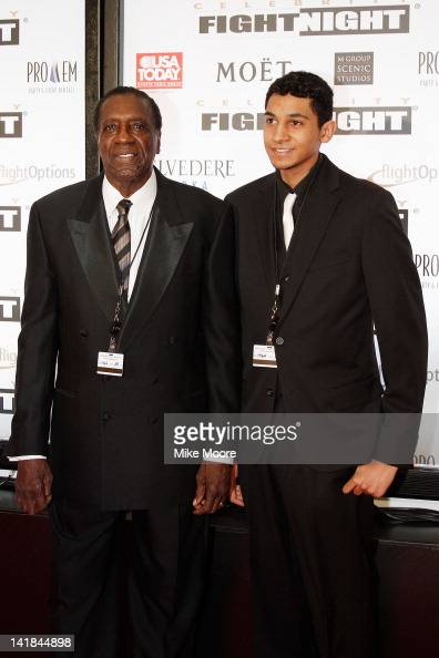 Former Harlem Globetrotters Meadowlark Lemon and guest arrive at Muhammad Ali's Celebrity Fight Night XVIII held at JW Marriott Desert Ridge Resort...