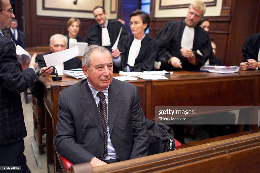 Former head of French electronic group Schneider Didier PineauValencienne during the opening of his trial at the Brussels courthouse Didier...