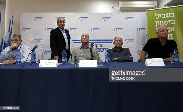 Former heads of Israeli spy agency Mossad and the army Arie Pelman former deputy head of Israeli internal security agency ShinBet Shabtai Shavit...