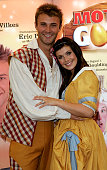 Former Hearsay singer Kym Marsh and actor Jonathan Wilkes pose at the press launch for Regent's annual pantomime Mother Goose at Trentham Awakes...