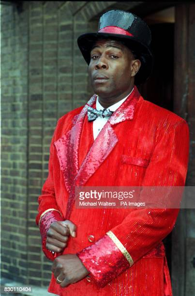 Former heavyweight boxer Frank Bruno takes a break from rehearsals for the pantomime 'Goldilocks and the Three Bears' at Upstream Short Street London...