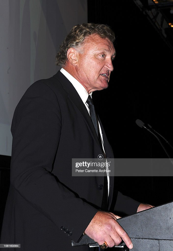 Former heavyweight boxer <a gi-track='captionPersonalityLinkClicked' href=/galleries/search?phrase=Joe+Bugner&family=editorial&specificpeople=239003 ng-click='$event.stopPropagation()'>Joe Bugner</a> speaks at a tribute and testimonial dinner to celebrate his 60th birthday at the Sofitel Hotel on March 12, 2010 in Sydney, Australia.