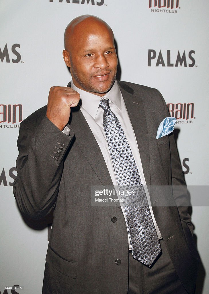 Former Heavyweight boxing champion <a gi-track='captionPersonalityLinkClicked' href=/galleries/search?phrase=Michael+Moorer&family=editorial&specificpeople=2366960 ng-click='$event.stopPropagation()'>Michael Moorer</a> attends the Mayweather/Cotto after-fight party at Rain Nightclub on May 5, 2012 in Las Vegas, Nevada.