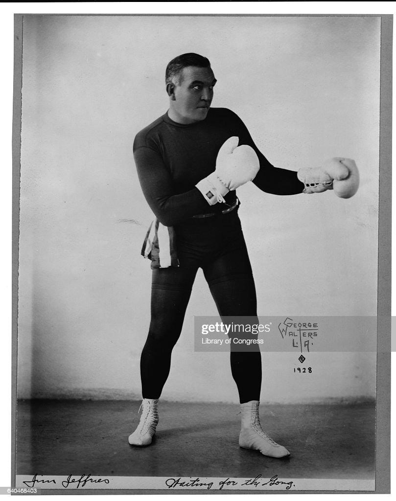 Former Heavyweight Champion James J Jeffries Striking Pose