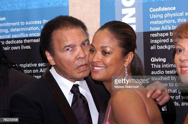 Former Heavyweight Champion Muhammad Ali with his Daughter Laila Ali